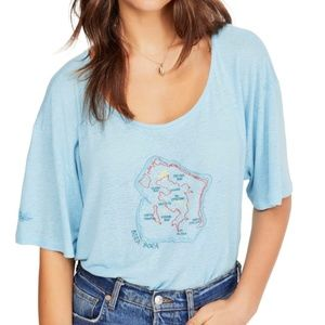 Free People Beach House Graphic Tee Bora Bora